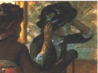 Edgar Degas: Bei der Modistin