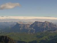 Blick vom Marmorata (Piz Serauta), Höchster Punkt der Dolomiten