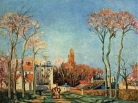 Camille Pissarro: Dorfeingang von Voisins (1872)