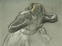 Edgar Degas: Dancer Bending Forward (1881)