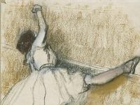 Edgar Degas: Dancer Stretching at the Bar (1877-1880)