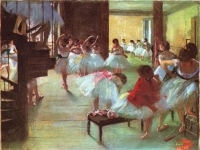 Edgar Degas: Ballettschule, 1889-1890, Corcoran Gallery of Art, Washington (D.C.)