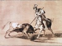 El Cid Campeador lanceando otro toro (Tauromaquia - Goya)