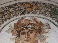 El Jem Museum mosaic dionysos detail