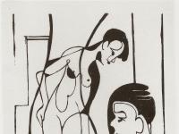 Ernst Ludwig Kirchner: Maler und Modell (1933)
