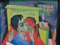 Ernst Ludwig Kirchner: Selbstbildnis als Kranker, 1918