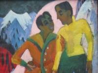 Ernst_Ludwig_Kirchner_Zwei_Brüder_M._(Mardersteig)_1921-1