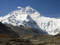 Everest, Nordseite, gegenüber Basislager für Bergsteiger.