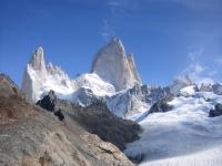 Fitz Roy, Blick auf den Hauptgipfel (Sicht aus Argentinien)