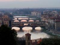 Florenz: Brücken der Stadt, gesehen aus Piazzale Michelango