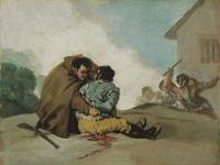 Francisco_de_Goya_-_Friar_Pedro_Binds_El_Maragato_with_a_Rope