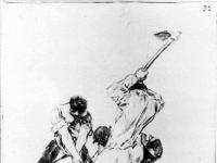 Francisco Goya: Drei Männer Graben (1819)
