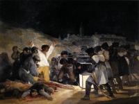 """Francisco Goya: El tres de Mayo (1814), auch bekannt unter """"Die Erschießung der Aufständischen"""""""