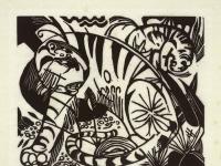 Franz Marc -Tiger- Holzschnitt 1912
