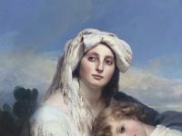 Franz Xaver Winterhalter - Italienerin mit Kind