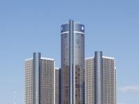 Renaissance Center, Detroit, Michigan, General Motors Zentrale.