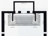 Grundriss des Pergamonaltars in der Aufstellung im Pergamonmuseum, Berlin