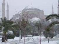 Hagia Sophia im Schnee (Februar 2004)