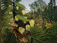 Henri Rousseau: Kampf zwischen Tiger und Büffel (1908)