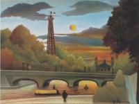 Henri Rousseau: Seine und Eiffelturm in der Abendsonne (1910)