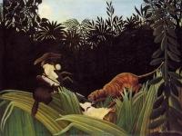 Henri Rousseau: Eclaireurs attaqués par un tigre (1904)