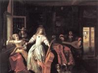 Hooch, Pieter de: Musikalische Konversation (1674)