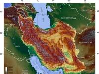 Topografische Karte Irans
