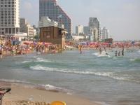 Strand von Tel Aviv, Israel