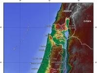 Topografische Karte Israels