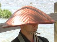 Japanese_buddhist_monk_hat_by_Arashiyama_cut