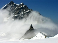 Cloud formation on Jungfraujoch, Bernese Alps