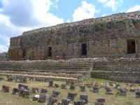 tempel der masken in Kabah, Yucatán, mexiko