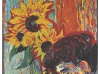 Kirchner_-_Frauenkopf_vor_Sonnenblumen