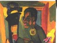 Ernst Ludwig Kirchner: Selbstbildnis an Staffelei