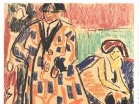 Ernst Ludwig Kirchner: Selbstbildnis mit Model