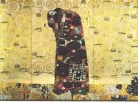 Klimt - Werkvorlage zum Stocletfries - Umarmung