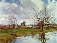 Landschaft mit überfluteten Feldern