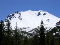 Lassen Peak in snow