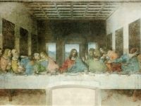 Das letzte Abendmahl (1495-1498) von Leonardo da Vinci (1452-1519)