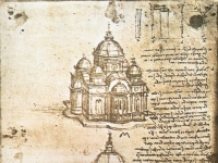 LEONARDO da Vinci Studies of central plan buildings