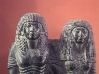 Ägyptische Statuette eines Paares, 19. Dynastie, Louvre, Paris