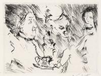 Lovis Corinth Drei Personen am Tisch