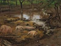 Lovis Corinth Schweinepfuhl 1900