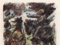 Lovis Corinth Wilhelm Tell Tell rettet Baumgarten vor den Reitern des Landvogts
