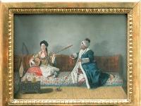 M Levett et Mlle Glavani en costume Turc Jean Etienne Liotard
