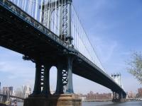 Manhattan Bridge from Fulton Landing Park