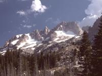 Matterhorn Peak, California, looking west from Horse Creek (Sierra Nevada)