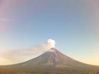 Vulkan Mayon im August 2006