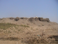 Ruinen eines Palasts von Apries (Memphis), 26. Dynastie.