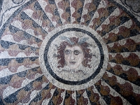 Mosaic of Medusa from Kos, installed in the Palace of the Grand Master of the Knights of Rhodes